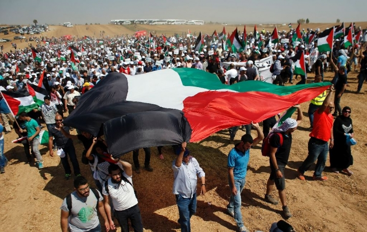 Pakistanis stand with Palestine people